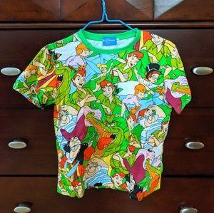 Tokyo Disney Resort Peter Pan Character Tee Shirt